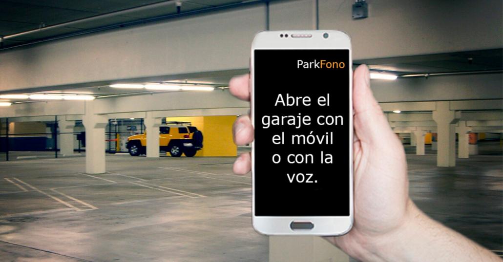 Control de accesos para garaje desde movil parking